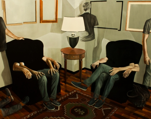 Dario Maglionico, Reificazione #13, oil on canvas, 136 x 105 cm, 2015