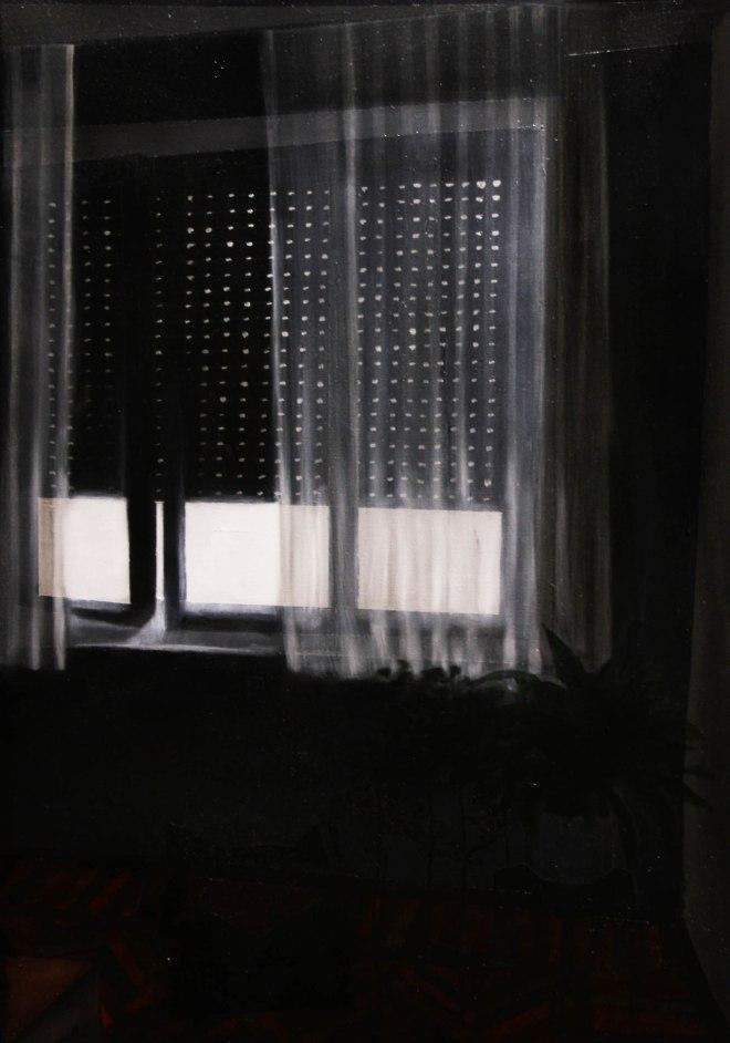 Studio del buio, da buttare, oil on canvas, 40 x 30 cm, 2015