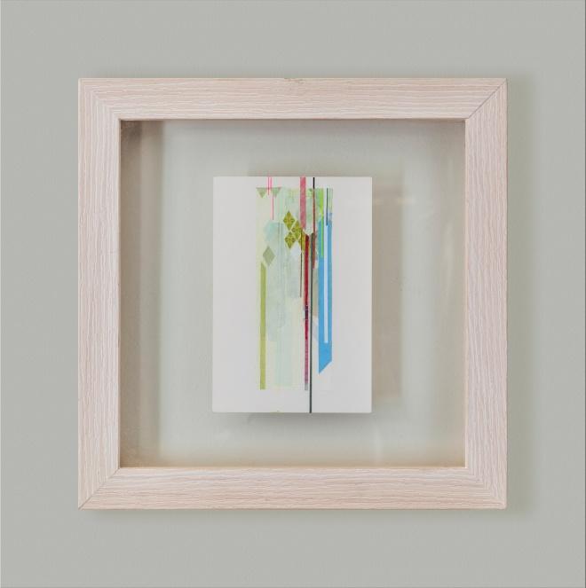 Untitled#1, 2014, tecnica mista su carta, 10,5x15,5cm
