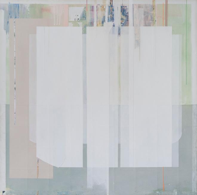 Ancient breath,2015, tecnica mista su tela, 70x70cm