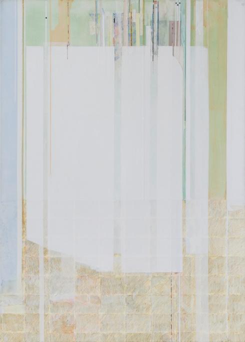 Unadorned frequency#1, 2015, tecnica mista su tela, 70x50cm