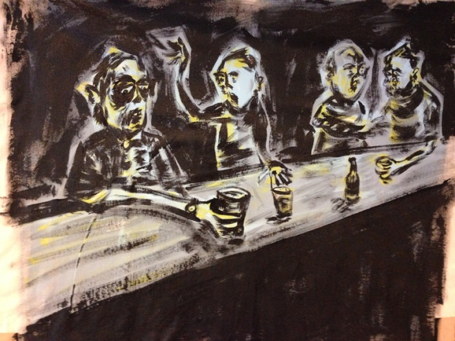 Russ Pope, Saturday Night Live, 2015, acrylic on sheet canvas, 46x61 cm