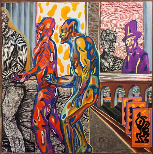 Zio Ziegler, Membrane Theory, 2015, oil, acrylic and mixed media on canvas, 182x182 cm