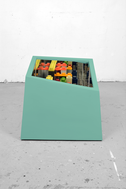 2015_%22kamigami box : green%22cm 67x67x60-ferrocromato , legno e specchio, esemplare unico(c)