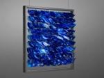 STUDIO BLU - pet, plastica, nylon e ferro -70x70x15 cm