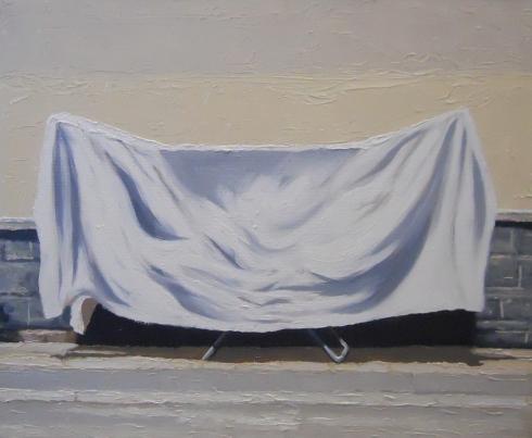 Andrea Di Marco, Steso, 2011, olio su tela, 50 x 60 cm
