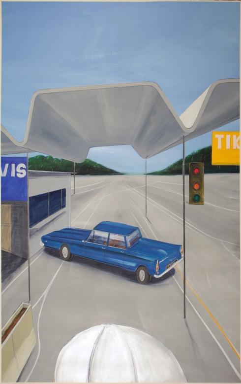 Filippo La Vaccara, Senza titolo, 2014, acrilico su carta, 140x90cm,