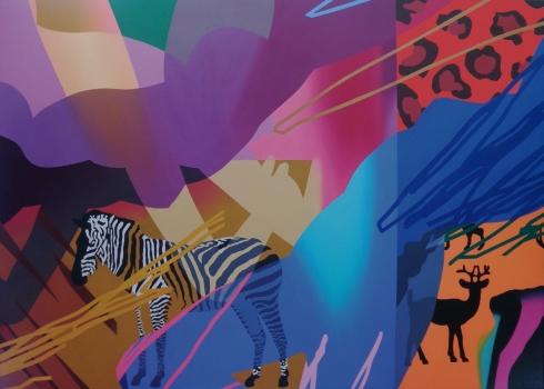 Ranieri Wanderlingh, Danze africane, 2012, olio su tela,  120x180 cm., collezione privatajpg