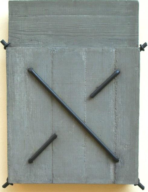 Uncini cemento e ferro 80x61x11 ( Architetture n° 185 2005 )
