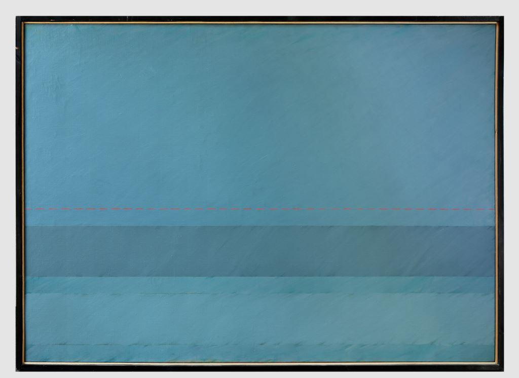Claudio Verna Orizzonte mare, olio su tela 100x140 1974