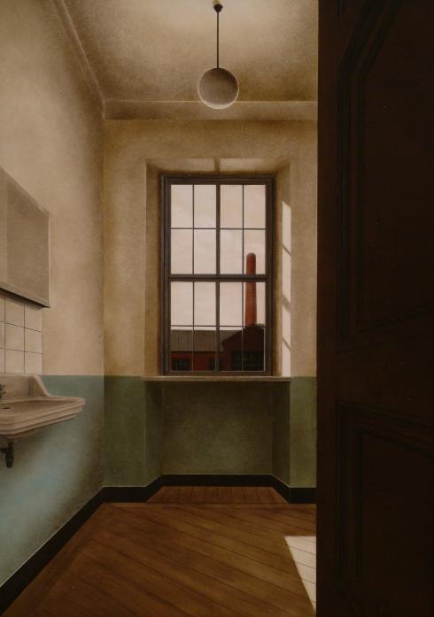 A. Cantafora, Avec le temps II, 2006, 2006, vinilico e olio su tavola, cm 70x50