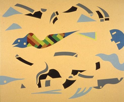 A. Mendini, ST, nitro su legno, 75x90 cm (2)