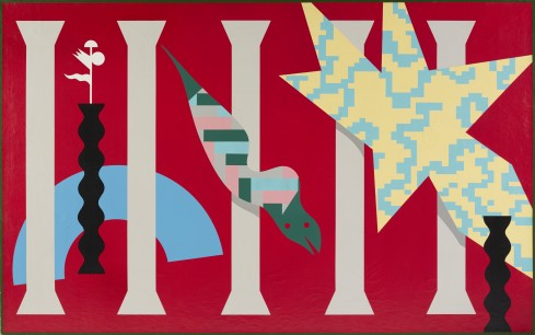 A. Mendini, ST, tela, 195x150 cm