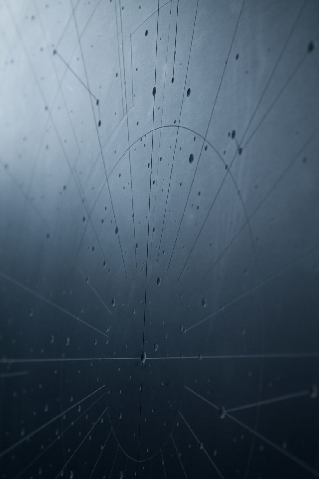Dario Goldaniga, Mappa Stellare, particolare 2, incisioni su lavagna, 90x120 cm, 2016