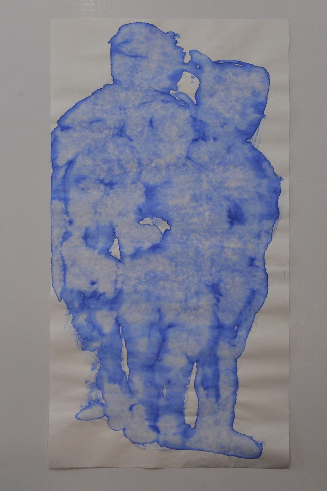scultura d'acqua C (china suite) acquerello su carta cinese 138x68cm