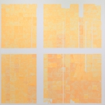 Viviana Valla, 2016, Chromofobia, 180x180cm, mixed media and collage on canvas