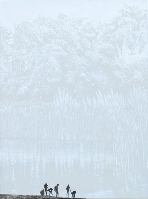 Il colore dell'ombra, olio e acrilico su tela, 90x120 cm