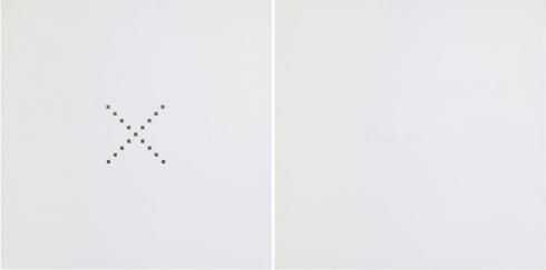 1979-nicolotti-incognita-tela-intagliata-e-dipinta-caratteri-in-rilievo-dittico-160x80