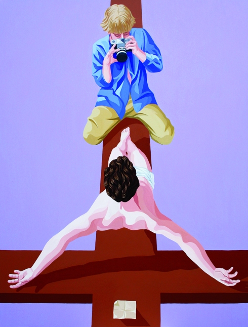 Giuseppe Veneziano, Jesus Christ Superstar, 2017, acrilico su tela, 130x170 cm