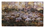 Gregge -Transhumance - Bovarismo- 127x75 cm - 2017 - mixed media on photographic paper