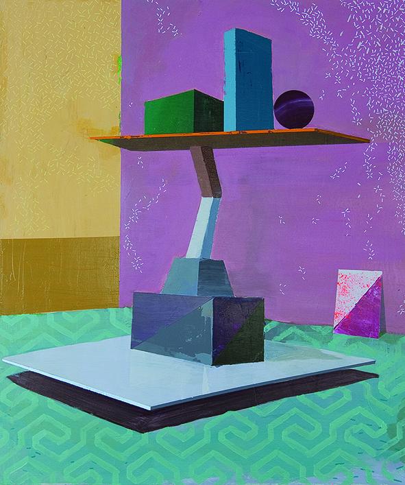 Paolo De Biasi, A momenti, 2017, acrilico su tela, 60x50 cm