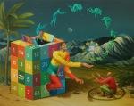 Waone -Vladimir Manzhos, Spiral of life, 2017, acrylic on linen, 120x150 cm