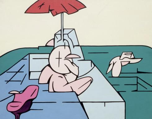 9.Déjeuner sur l_herbe, 1967, acrilici su tela, 73x92 cm