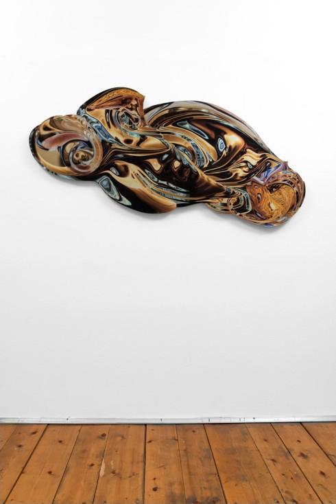 Paolo Treni, Nubes Turbinis, 2017, laser, smalti e vernici su plexiglas, 151x80 cm, installation view, ph Gilberti - Petrò