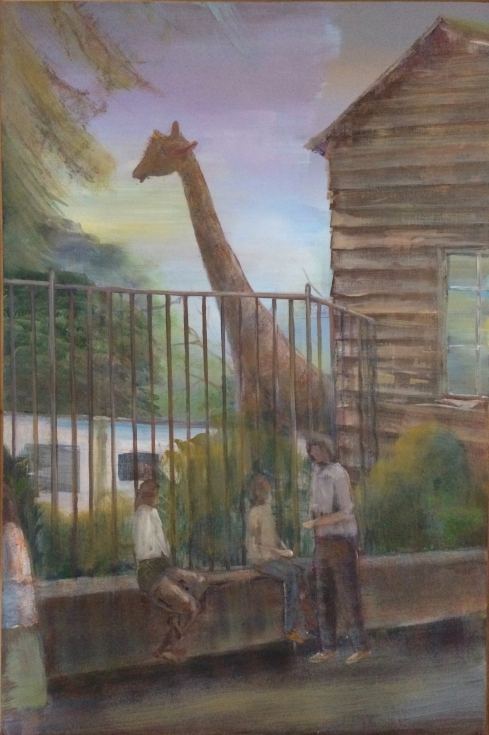 Peter Busch, Giraffe, 2017, 150x80cm, Acryl auf Leinwand