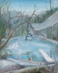 Peter Busch, Pool,-2016,-100x80cm,-Acryl-auf-Leinwand