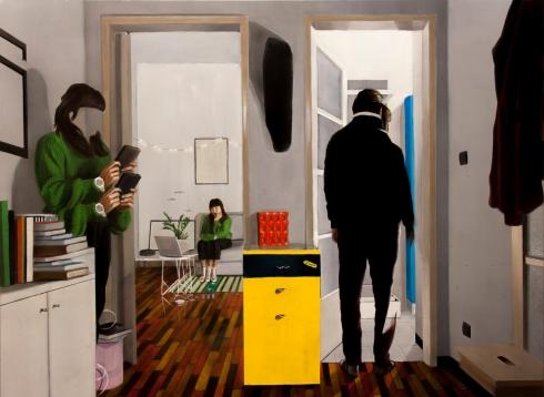 Dario Maglionico, Reificazione #49, oil on canvas, 70 x 95 cm, 2018