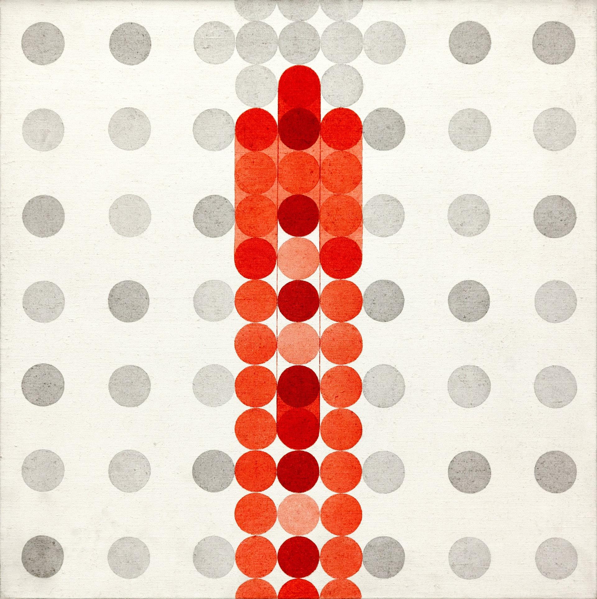 1969, Seriale elementi scorrevoli,acrilico su tela