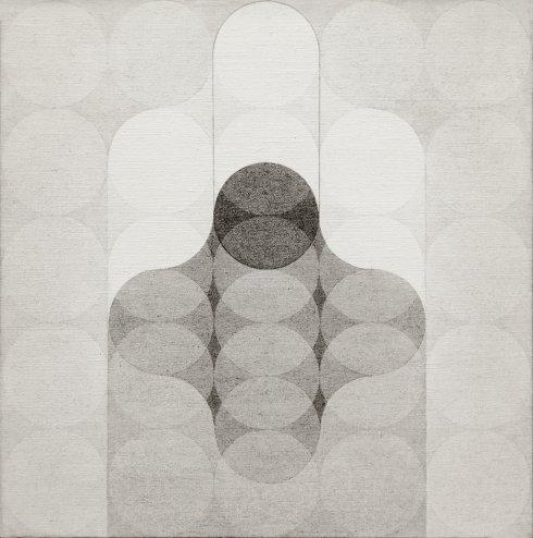 1970, Mutazione el. scorrevole, acrilico su tela