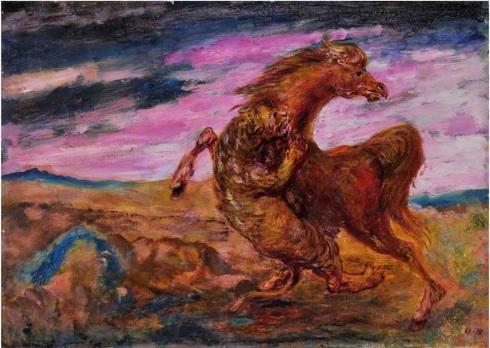 Aligi Sassu, Leonessa che sbrana un cavallo, 1958.jpg