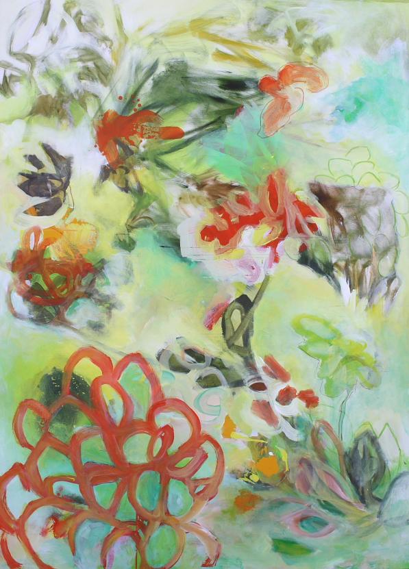 fiore arabescato_2019_cm180x130_olio e acrilico su tela
