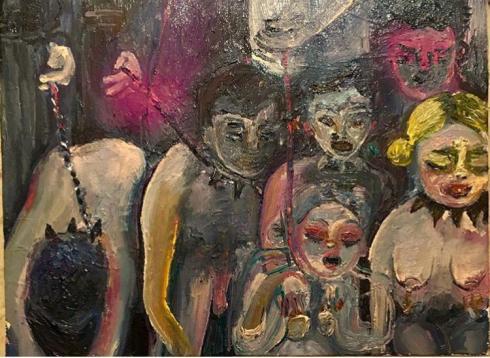 6 - Salò o le 120 giornate di Sodoma, 2019, olio su tela, 40x30 cm