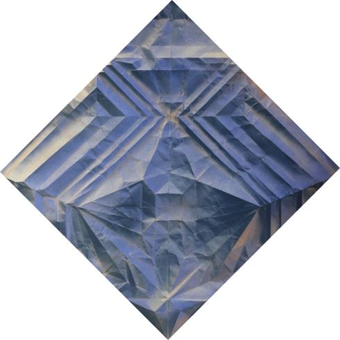 Phoenix 50x50, tecnica mista su carta, 2019 designed origami by Jo Nakashima
