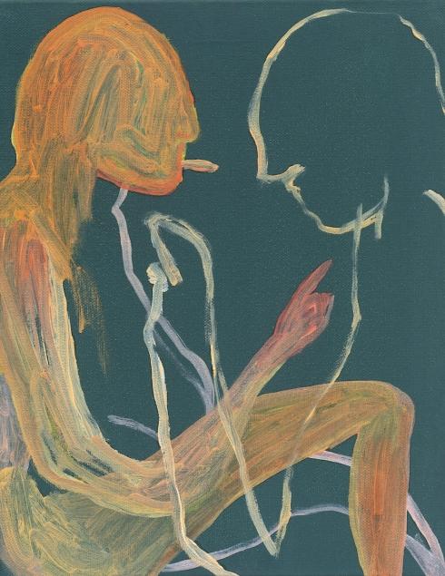 Thomas Berra - Studio con titolo 3, 2019 - Olio su tela di cotone, cm. 28 x 35,5 - ph. Cosimo Filippini